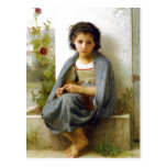 William-Adolphe Bouguereau (1825-1905) - The Littl Postcard