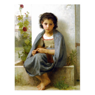 William-Adolphe Bouguereau (1825-1905) - The Littl Postcard
