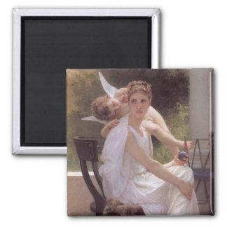William Adolphe Bouguereau art 2 Inch Square Magnet