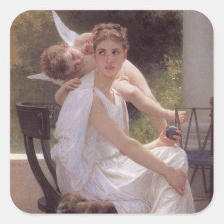 William Adolphe Bouguereau art Square Sticker