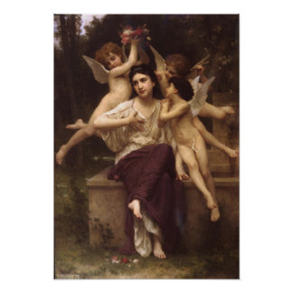 William-Adolphe Bouguereau-Ave de printemps Poster