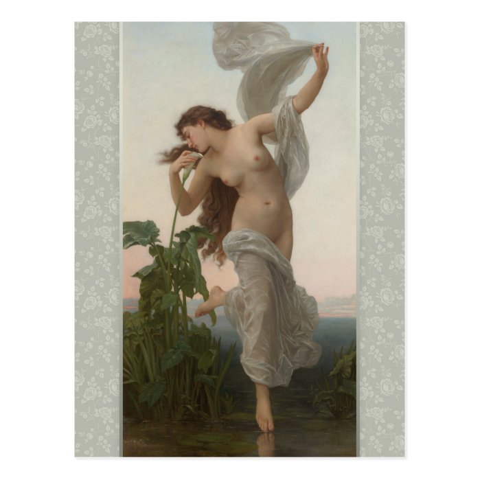 William-Adolphe Bouguereau Dawn L'Aurore CC0874 Postcard