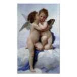 William-Adolphe Bouguereau-First Kiss Poster