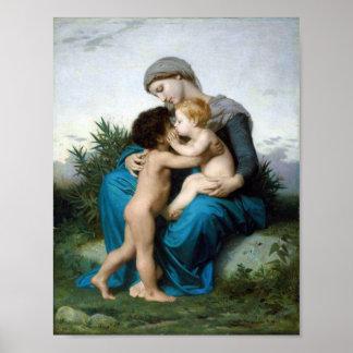 William-Adolphe Bouguereau-Fraternal Love Print