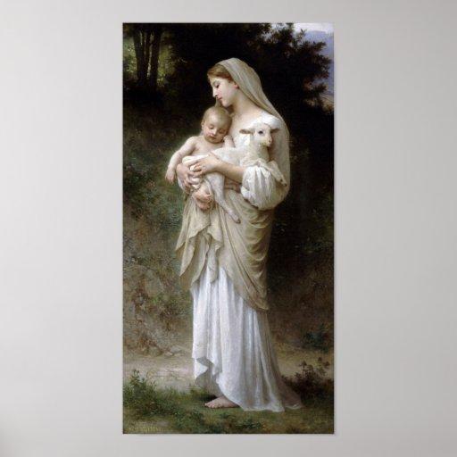 William-Adolphe Bouguereau-Linnocence lg Print