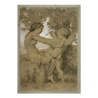 William-Adolphe Bouguereau-Loves Resistance Poster