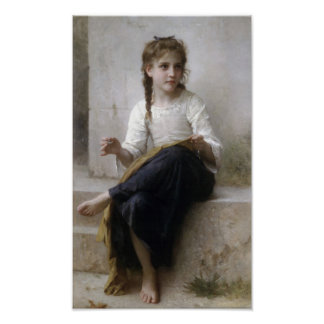 William-Adolphe Bouguereau-Sewing Poster