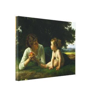 William-Adolphe Bouguereau - Temptation Gallery Wrap Canvas
