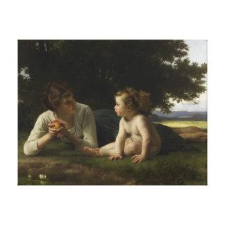William-Adolphe Bouguereau Temptation Canvas Print