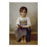 William-Adolphe Bouguereau-The Difficult Lesson Print