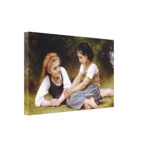 William-Adolphe Bouguereau - The Nut Gatherers Canvas Prints