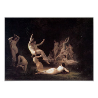William-Adolphe Bouguereau-The Nymphaeum Poster