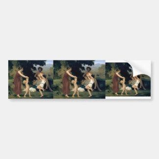 William-Adolphe Bouguereau-The Pastoral Recreation Car Bumper Sticker