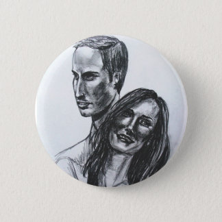 William and Catherine badge Button