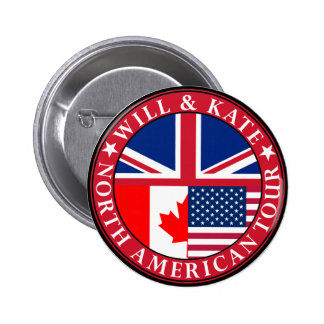 William and Catherine Pinback Buttons