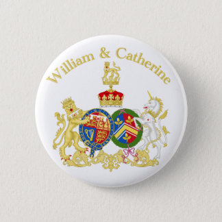 William and Catherine Coat of Arms Pinback Button