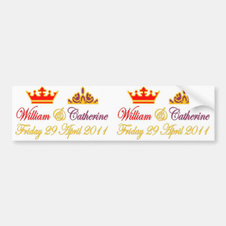 William and Catherine Royal Wedding Bumper Sticker