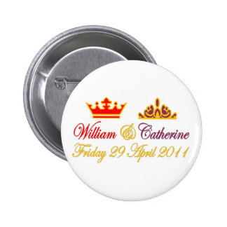 William and Catherine Royal Wedding Button