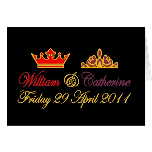 William and Catherine Royal Wedding Cards