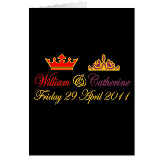 William and Catherine Royal Wedding Card