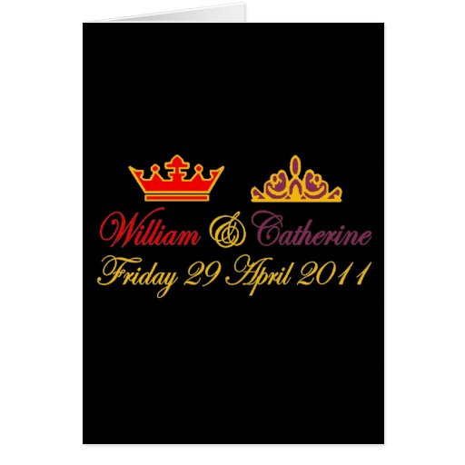 William and Catherine Royal Wedding Greeting Card