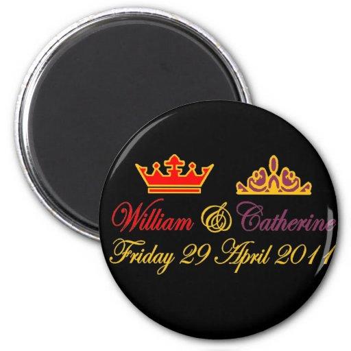 William and Catherine Royal Wedding Fridge Magnet