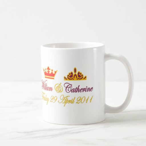 William and Catherine Royal Wedding Mugs