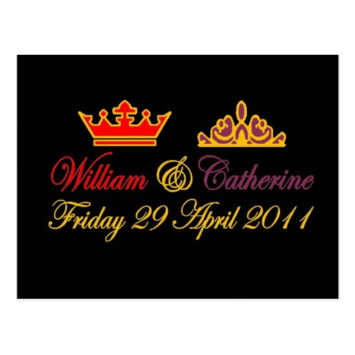 William and Catherine Royal Wedding Post Card