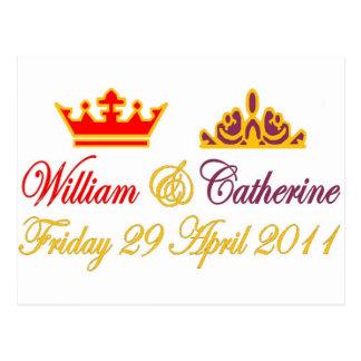 William and Catherine Royal Wedding Postcard