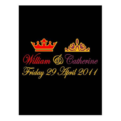 William and Catherine Royal Wedding Post Cards