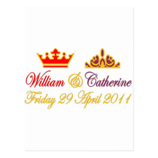 William and Catherine Royal Wedding Postcard