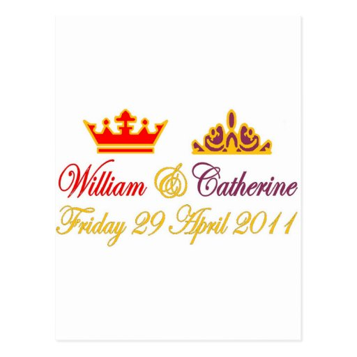 William and Catherine Royal Wedding Postcards