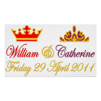William and Catherine Royal Wedding Poster