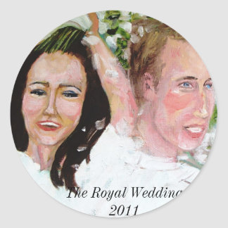 William and Catherine wedding stickers