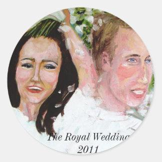 William and Catherine wedding stickers