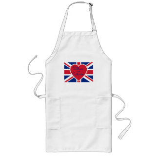 William and Catherine with Union Jack Products Long Apron