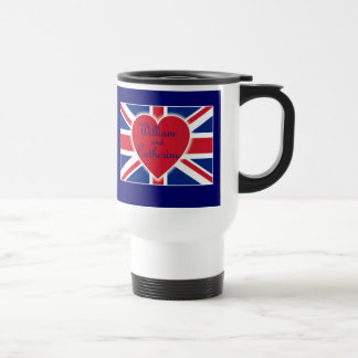 William and Catherine with Union Jack Products Coffee Mug
