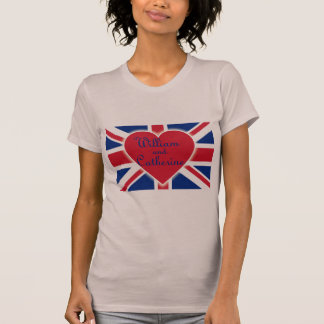William and Catherine with Union Jack Products T-Shirt
