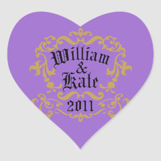 William and Kate 2011 Heart Sticker
