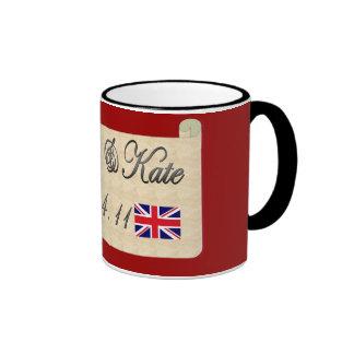 William and Kate Ringer Coffee Mug