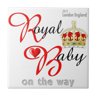 William and Kate Royal Baby on the way Ceramic Tile