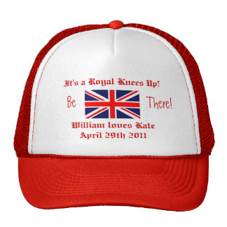William and Kate-Royal Wedding/British Flag Trucker Hat