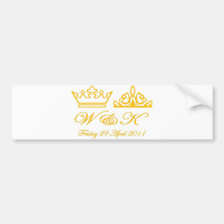 William and Kate Royal Wedding Bumper Sticker