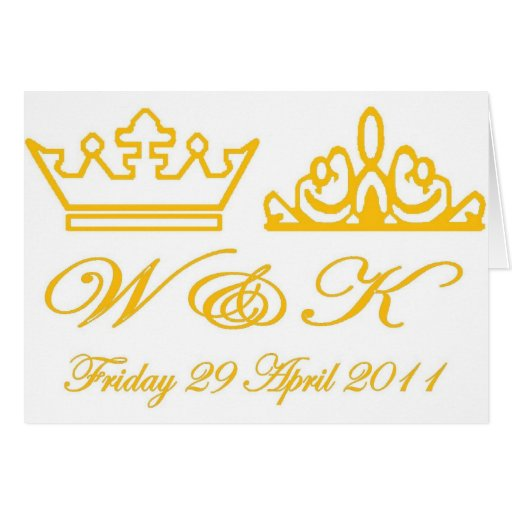 William and Kate Royal Wedding Card