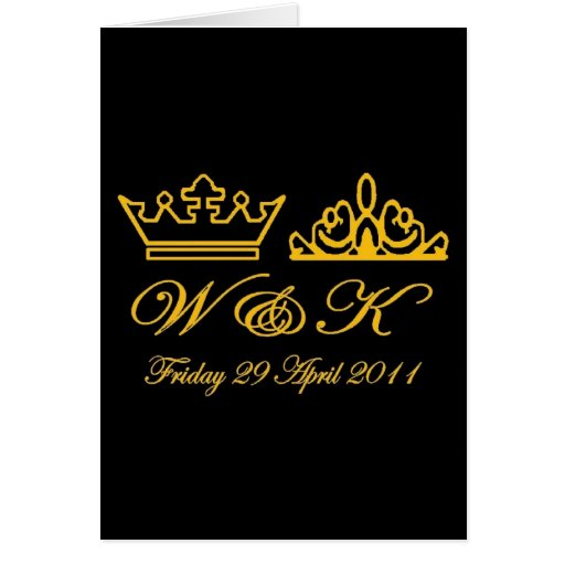 William and Kate Royal Wedding Cards