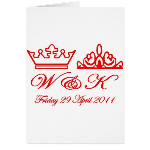 William and Kate Royal Wedding Greeting Card