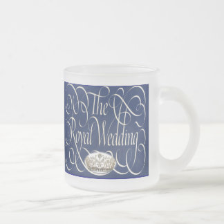 William and Kate Royal Wedding Collectibles Frosted Glass Coffee Mug