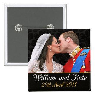 William and Kate Royal Wedding Kiss Pins