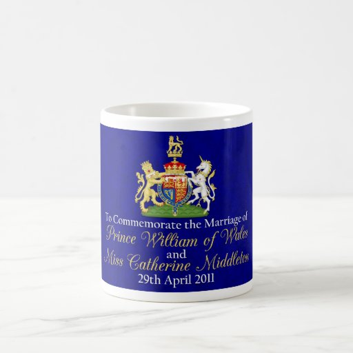 William and Kate Royal Wedding Classic White Coffee Mug