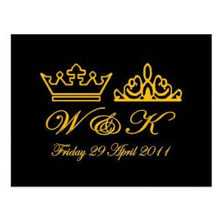 William and Kate Royal Wedding Postcard